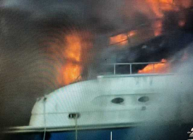 Yacht fire under control