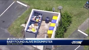 PBSO detains person of interest after baby dumped inside dumpster