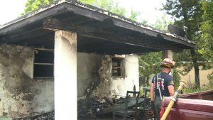 A Delray Beach family displaced after home's carport catches fire