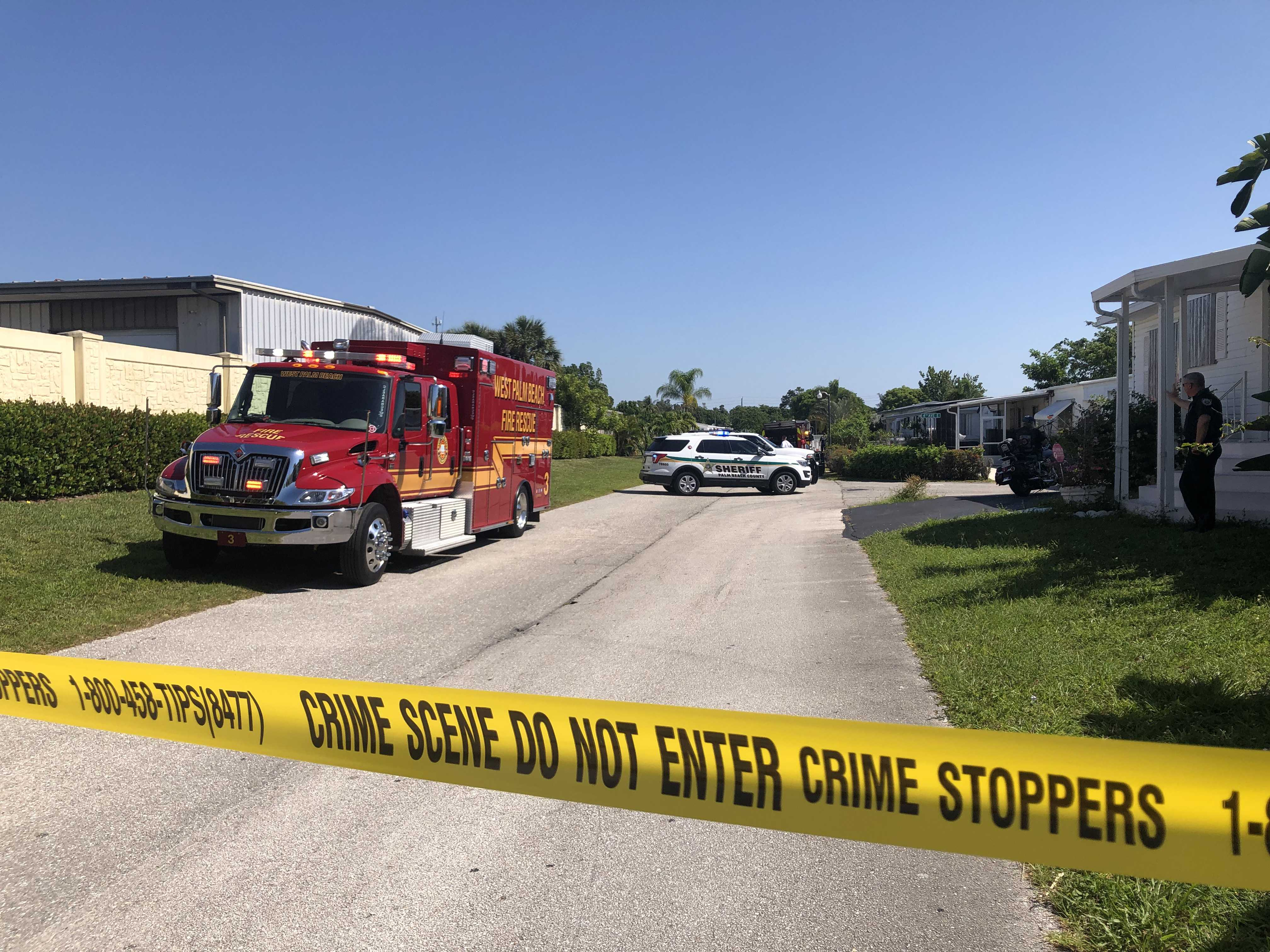 3 deputies rushed to a hospital after coming in contact with cleaning chemicals in mobile home park