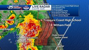 Palm Beach County severe thunderstorm warning until 4:45pm