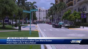 Cars stolen from valet in Boca Raton