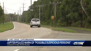 Police warn about suspicious person in Jupiter