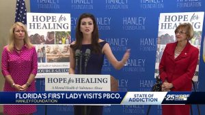 Florida's first lady in South Florida to address mental health issue