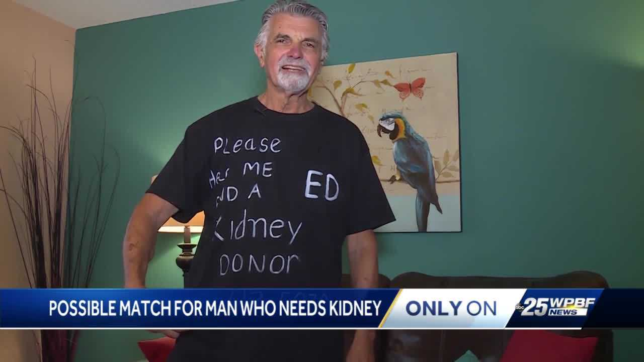 A local man's unconventional way to get a new kidney may have worked