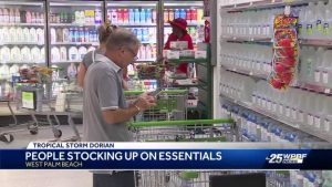 Palm Beach County residents are stocking up on essentials