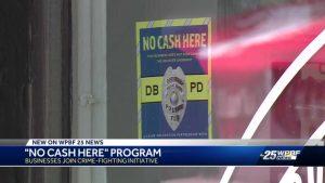 No Cash Here program to deter burglaries