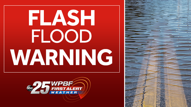Flash Flood Warning issued for parts of Palm Beach County