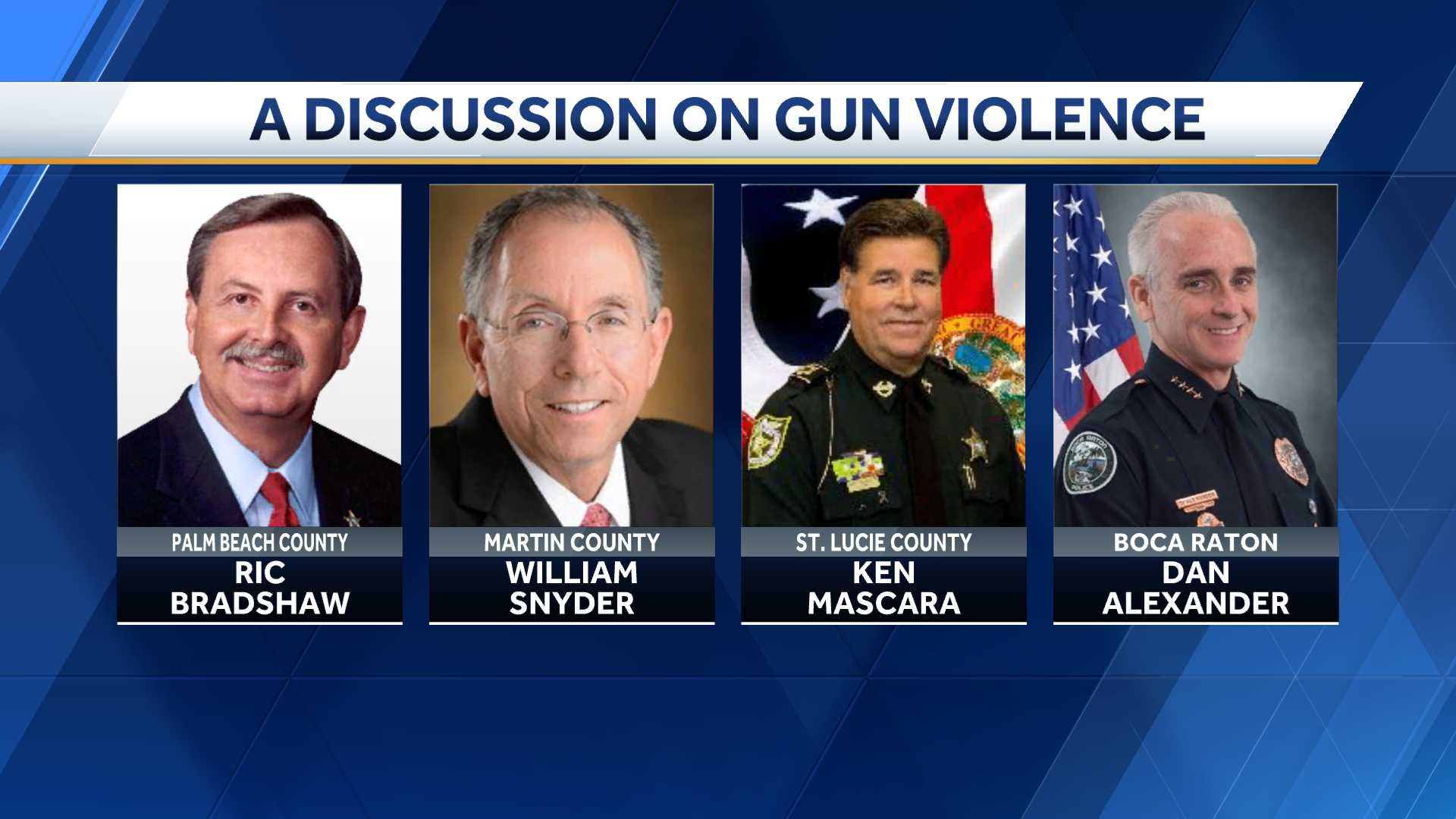 Candid conversation on gun violence with local law enforcement