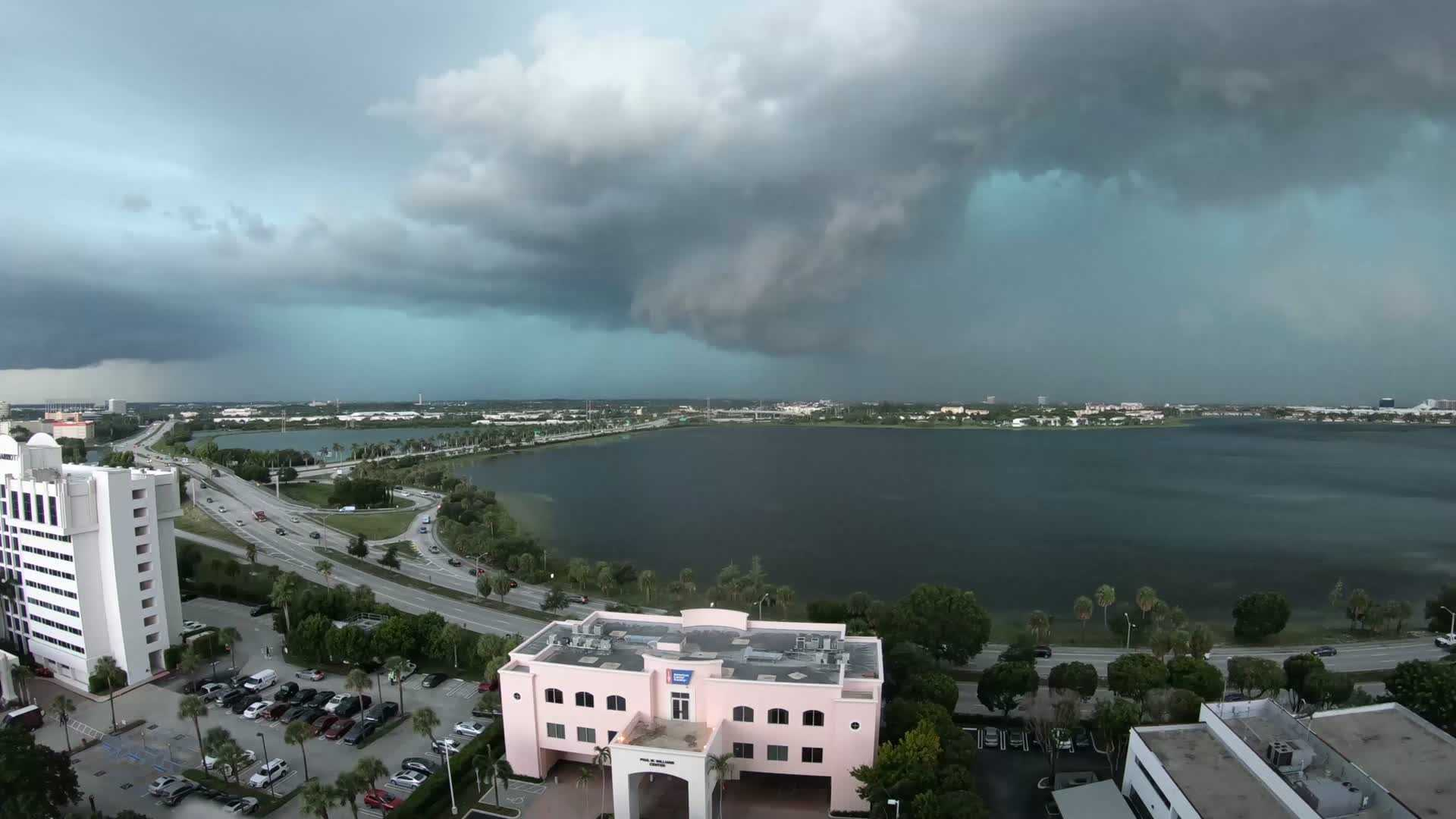 Watch as storms roll through West Palm Beach