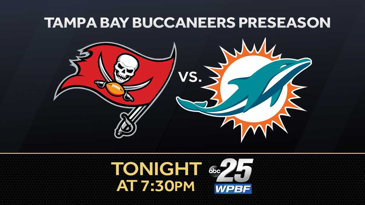 Watch the Tampa Bay Buccaneers take on the Dolphins Friday