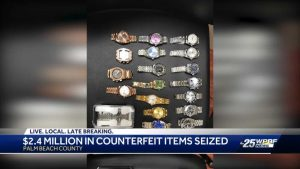 PBSO arrest pair after $2.4 million in counterfeit items seized