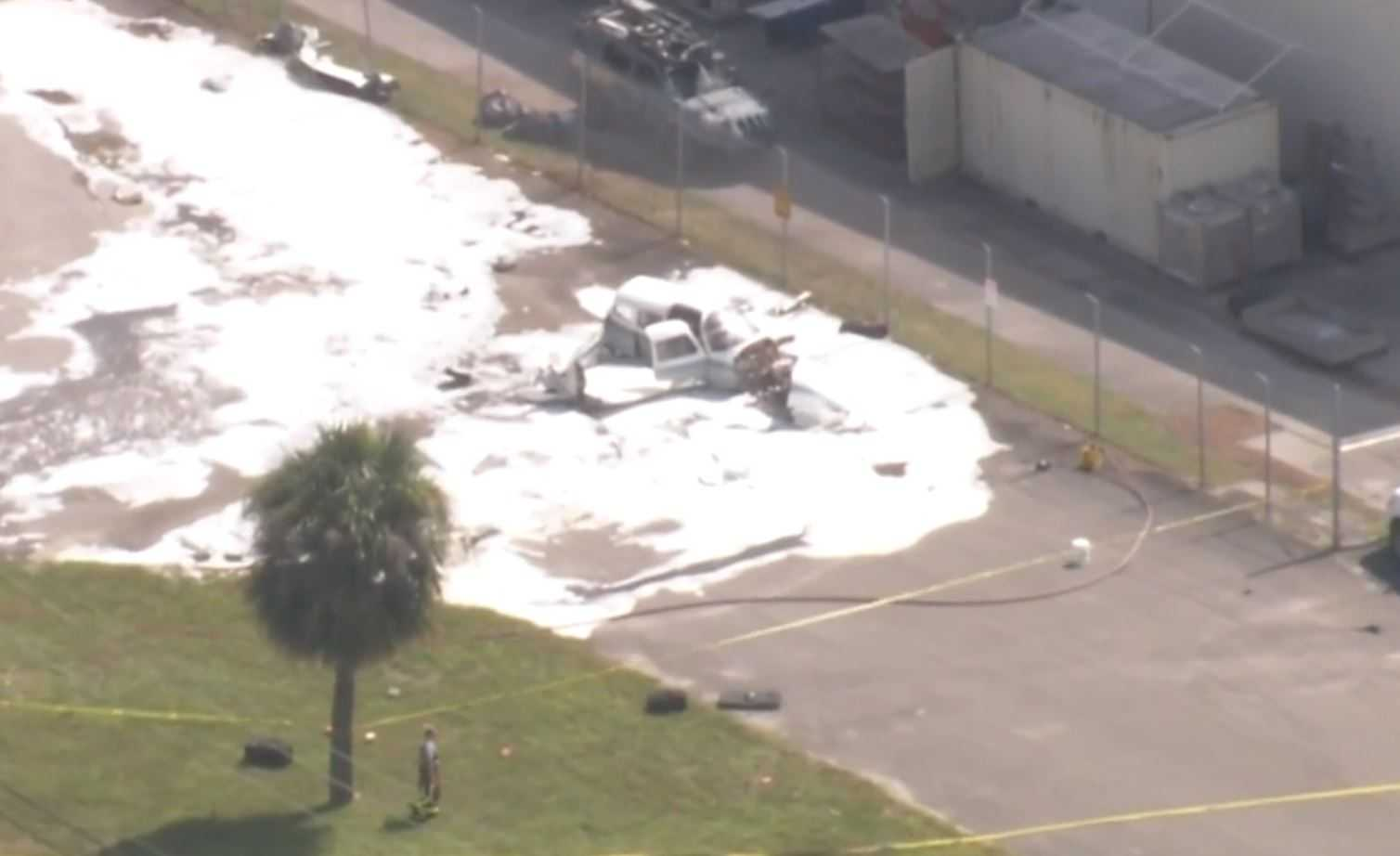 Two people injured after plane crashes at Boca Raton Airport