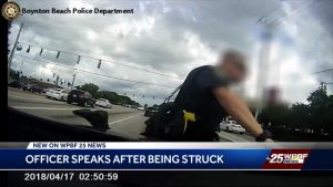 Local Boynton Beach officer speaks after being hit by an SUV