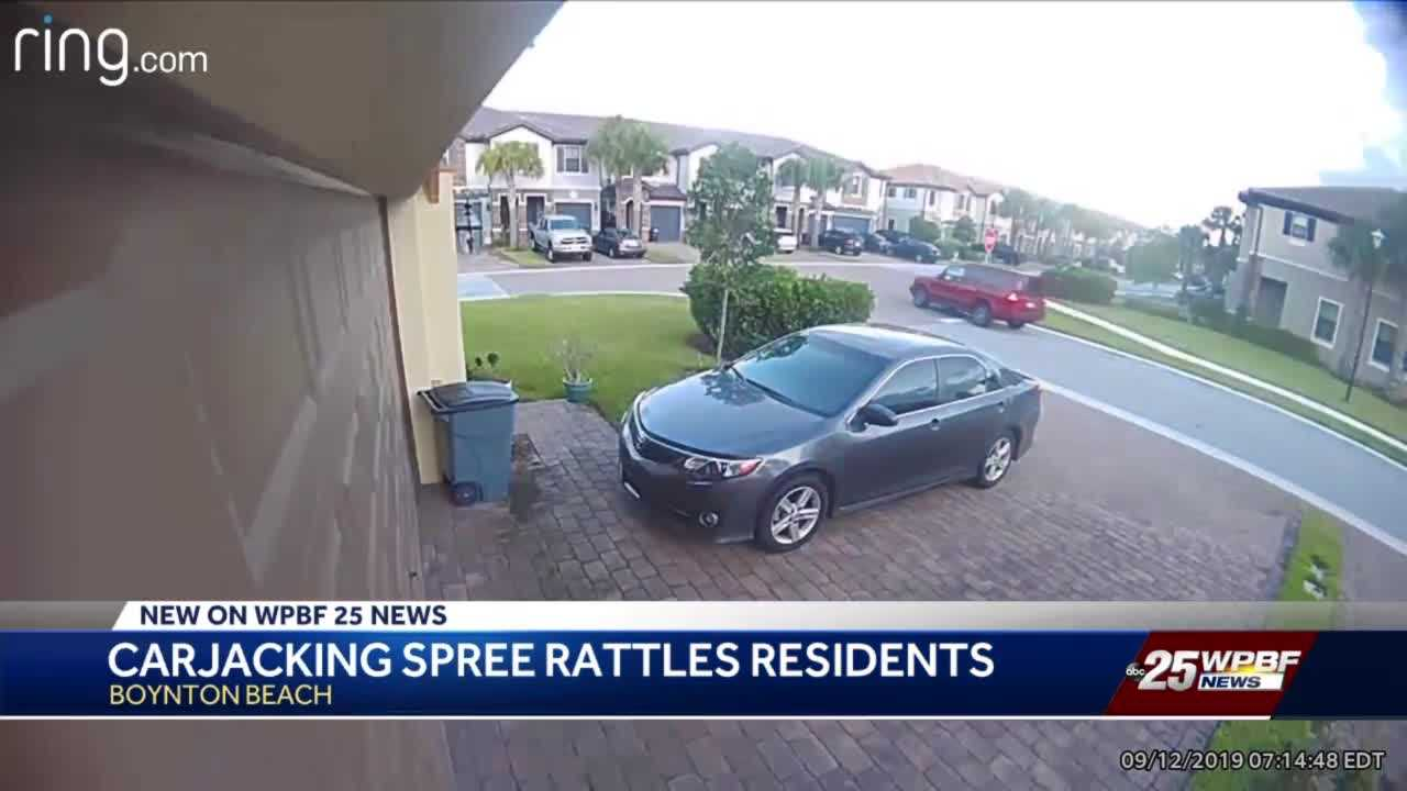 Carjacking spree rattles residents