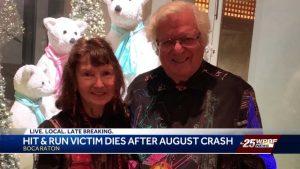Boca Raton hit and run victim dies