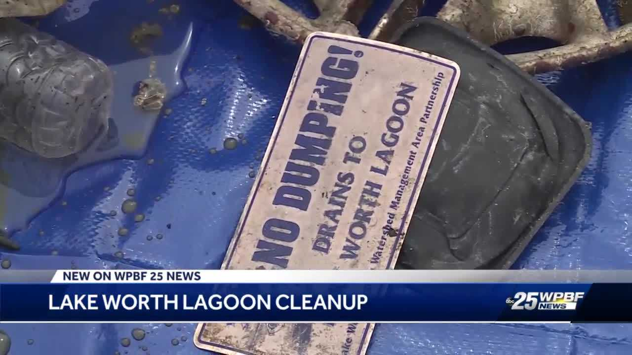 Lagoon cleanup in Lake Worth