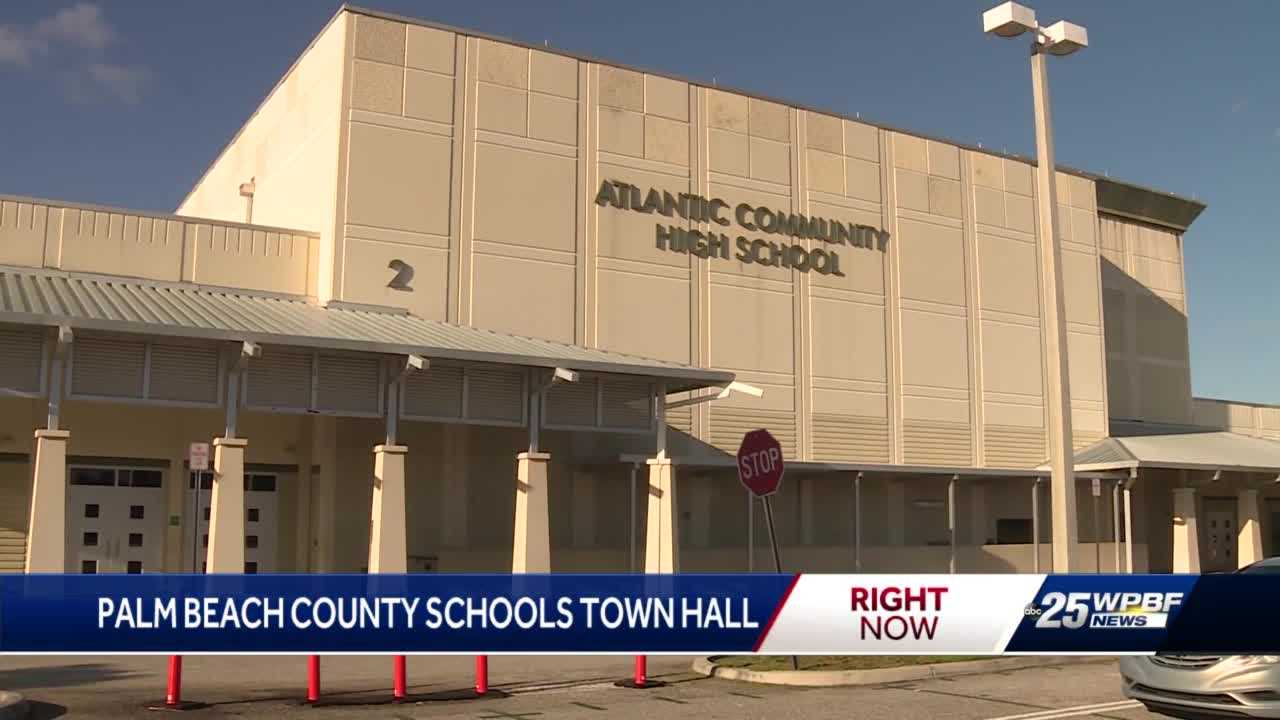 Palm Beach County Schools town hall meeting about school safety