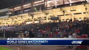 Thousands enjoy World Series game 3 watch party in West Palm Beach