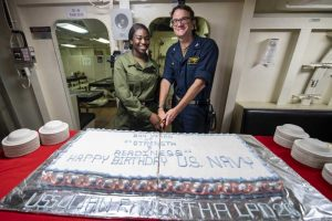 Sailor from West Palm Beach celebrates Navy's birthday