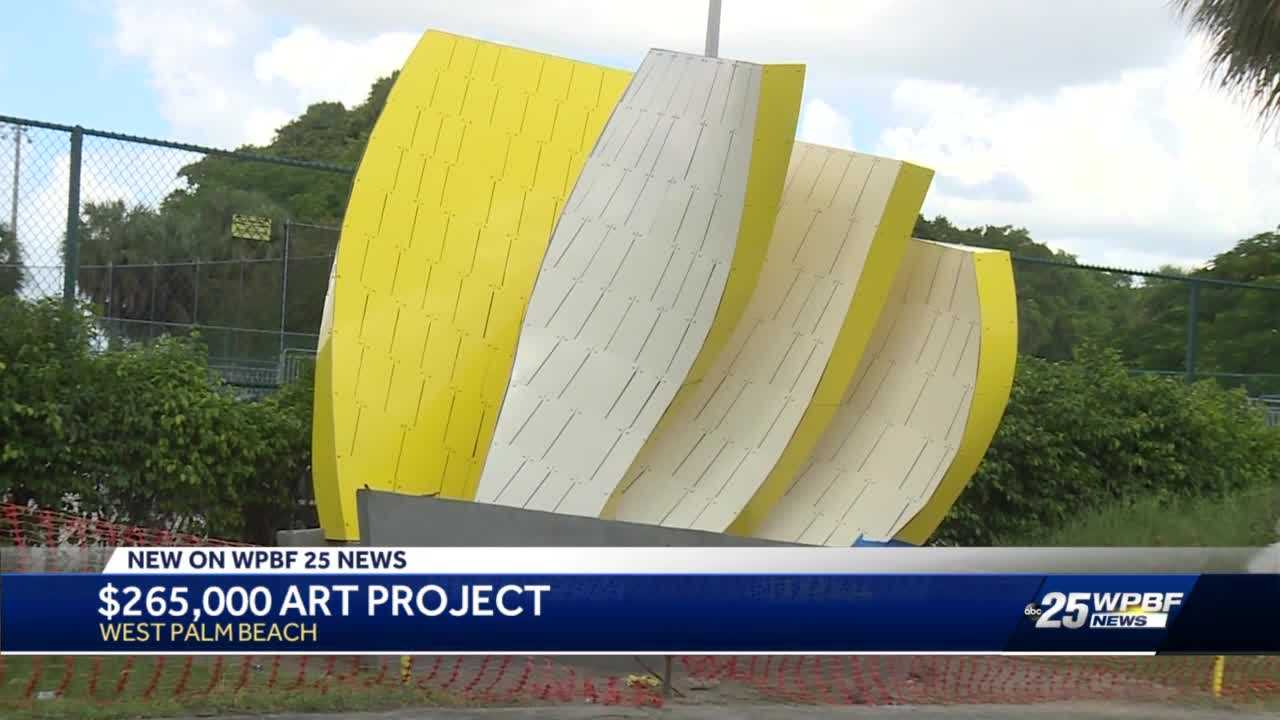 Expensive sculptures popping up in the city of West Palm Beach