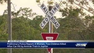Woman and two children dead in train vs. car crash in Jupiter
