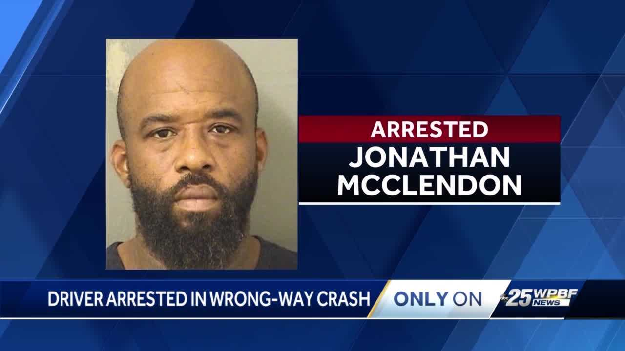 West Palm Beach man accused of driving wrong way on Okeechobee Boulevard crashes into multiple cars