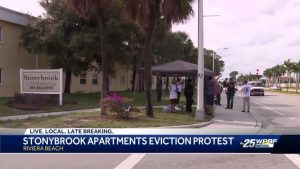 Stonybrook residents barricade themselves inside apartments over eviction protest