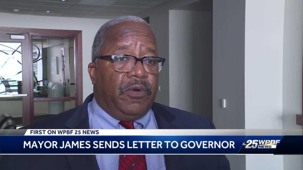 Mayor James sends letter to governor