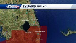 BREAKING NEWS: Tornado Watch in Palm Beach County