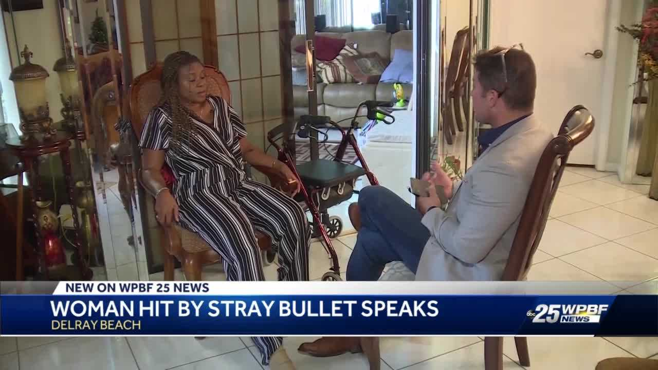 Woman shot by 'celebratory gunfire' in Delray Beach talks about the night her life changed