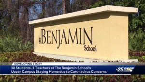 Students and teachers staying home from Benjamin school due to coronavirus concerns
