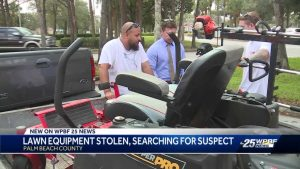 Two landscaping businesses victims of theft within hours of each other