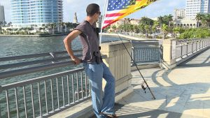 Gun owners open carry through GreenMarket for demonstration in West Palm Beach