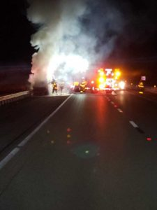 Single car crash shuts down turnpike northbound lanes