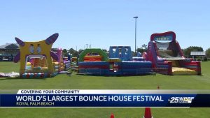 The World's Largest Bounce House arrives in Royal Palm Beach