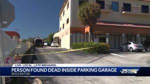 Man found dead inside parking garage