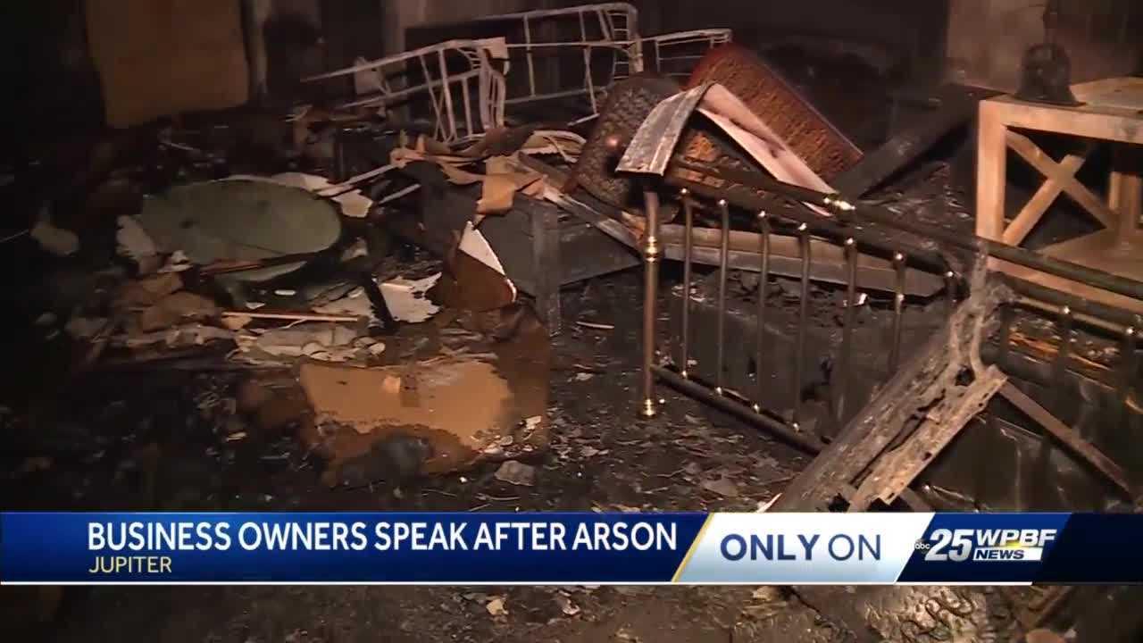 Jupiter furniture store owners speak up after arson suspect arrested