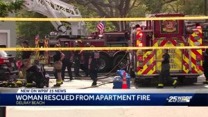 Woman rescued from apartment fire in Delray Beach