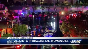 Police: Woman dies after car crashes and sinks in Boynton Beach intracoastal waterway