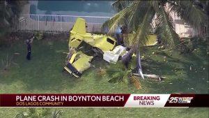 Witness who saw plane crash prays for victim