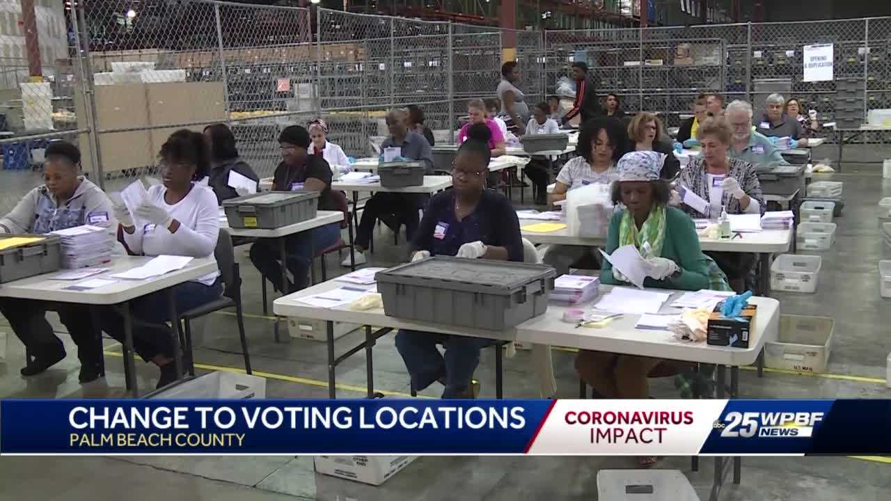 Palm Beach County election day polling precinct changes