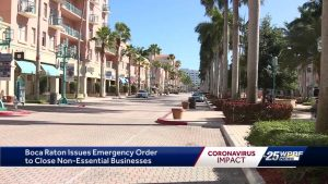 Boca Raton issues emergency order for non essential businesses