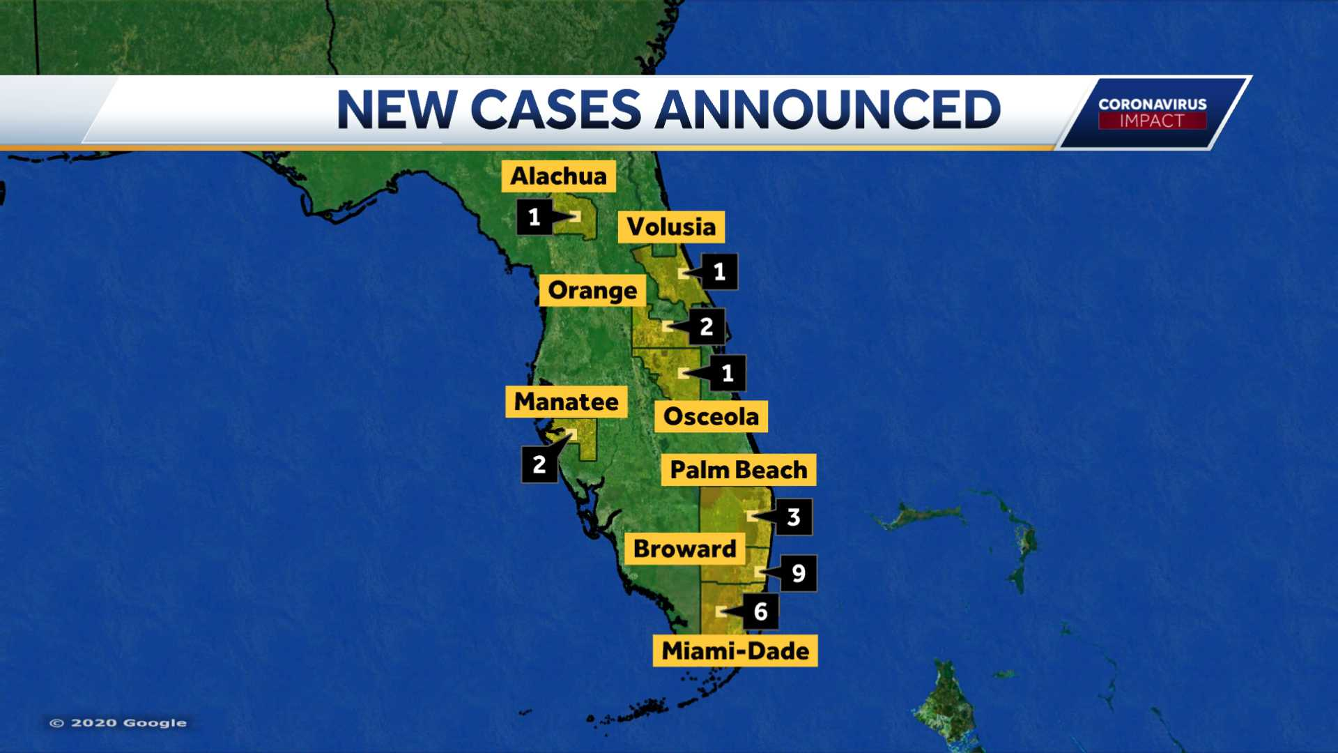 Florida Department of Health Announces 25 New Positive COVID-19 Cases