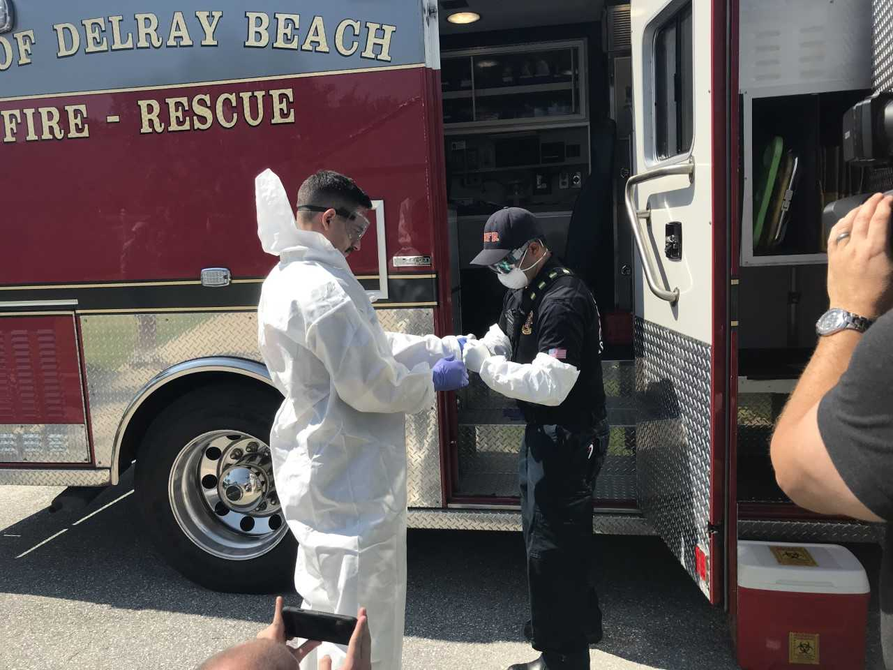 COVID-19 home test starts for first time in Delray Beach