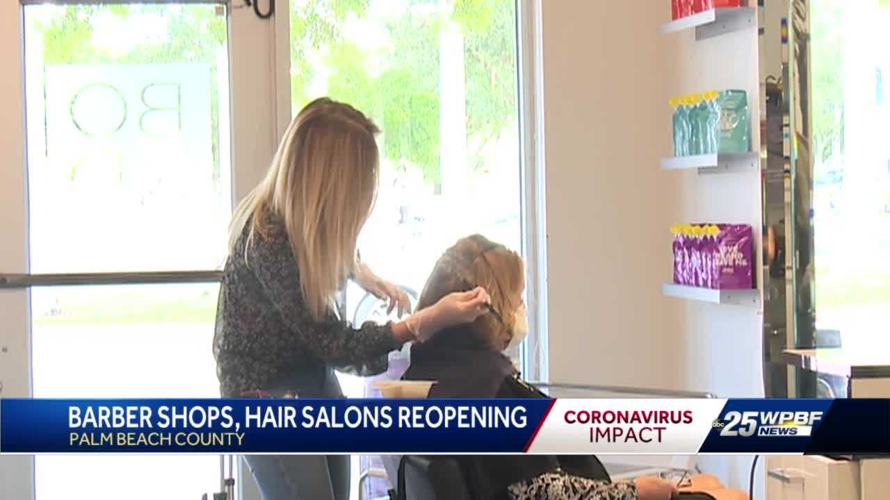 Salons and barber shops reopen in Palm Beach County