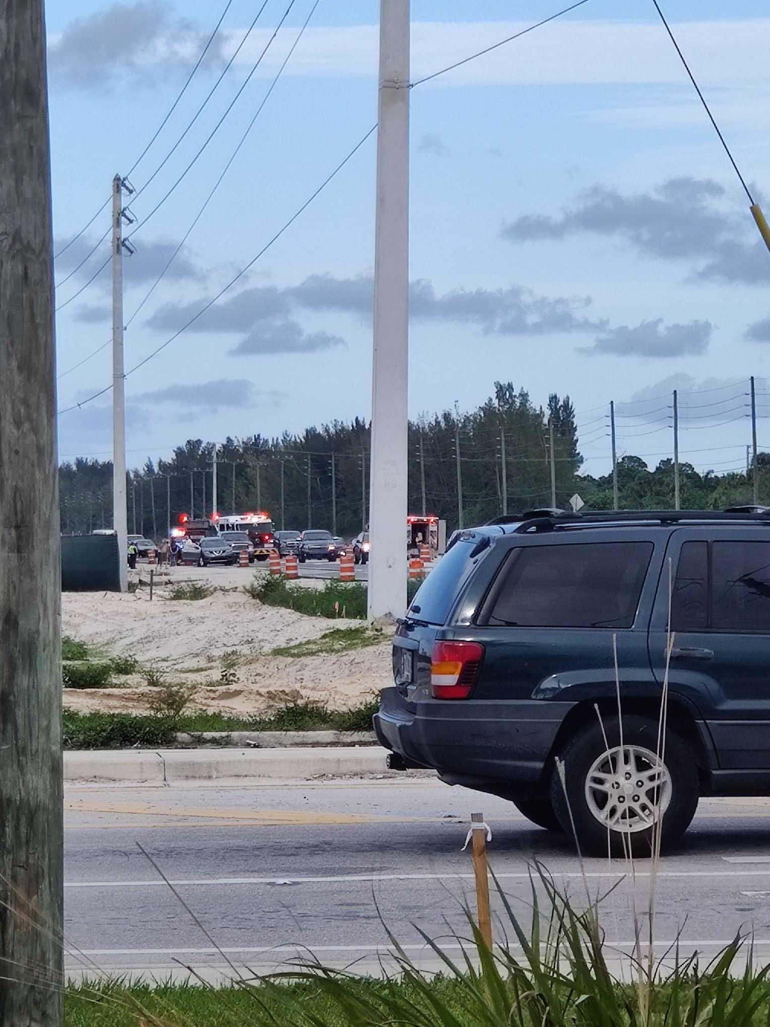 Two car accident slows traffic near West Palm Beach