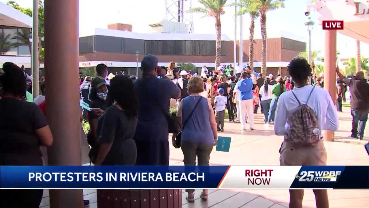Protesters take to the streets of Riviera Beach