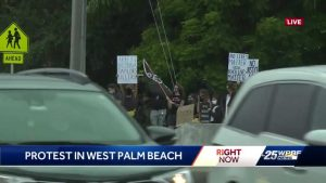 Protests continue in West Palm Beach Wednesday