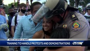 Protests remain peaceful in Boca Raton